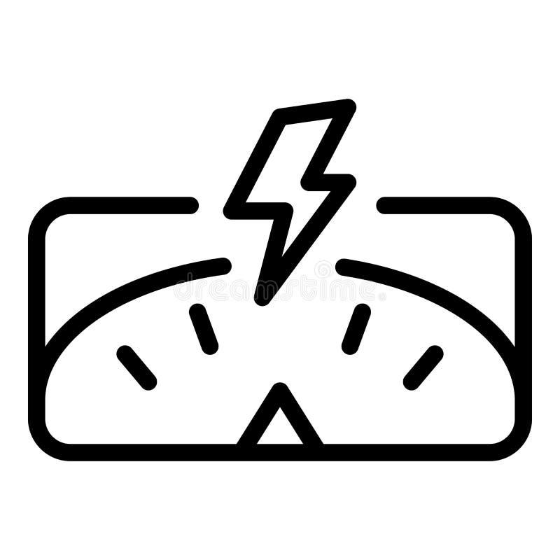 Ícone rápido da perda de peso, estilo do esboço ilustração do vetor