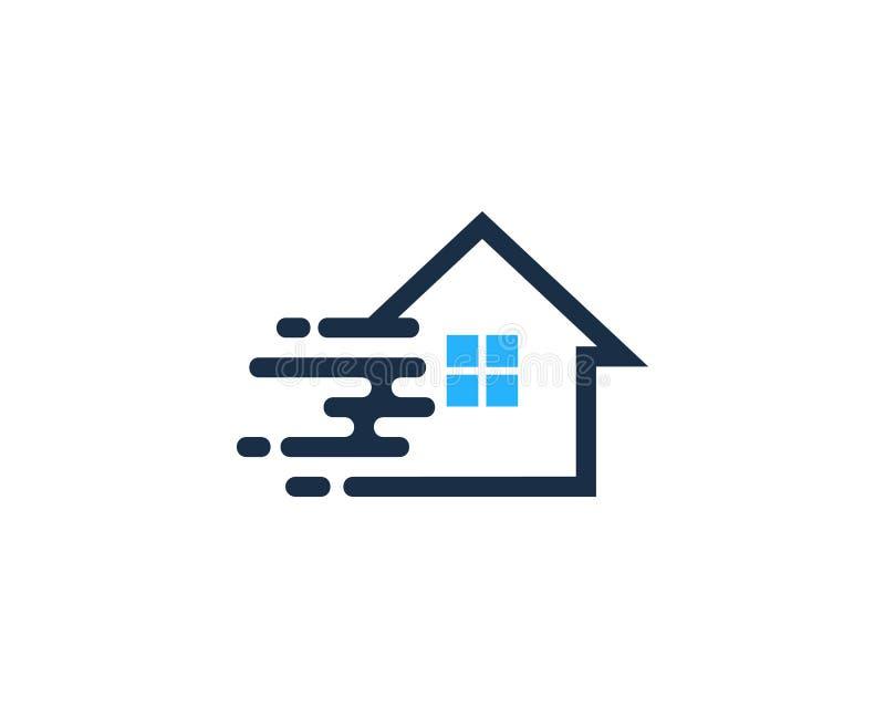 Ícone rápido Logo Design Element da casa da casa da velocidade ilustração stock