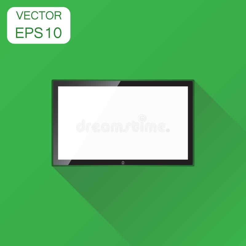 Ícone realístico da tela da tevê Pictograma da televisão do conceito do negócio ilustração stock