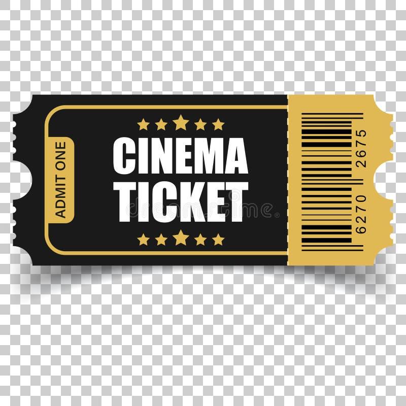 Ícone realístico do bilhete do cinema no estilo liso Admita um vale otorrinolaringológico ilustração do vetor