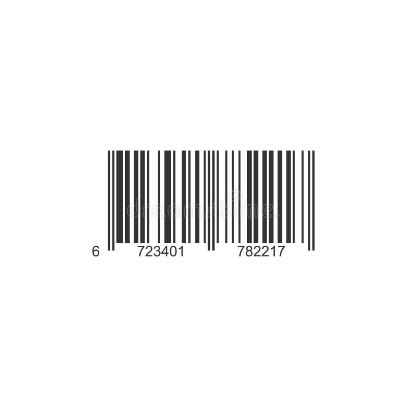 Ícone realístico do código de barras ilustração stock