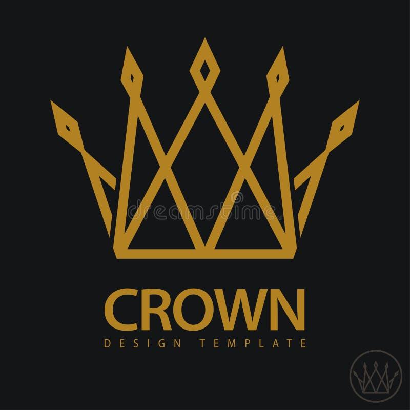 Ícone real da coroa Vetor ilustração royalty free