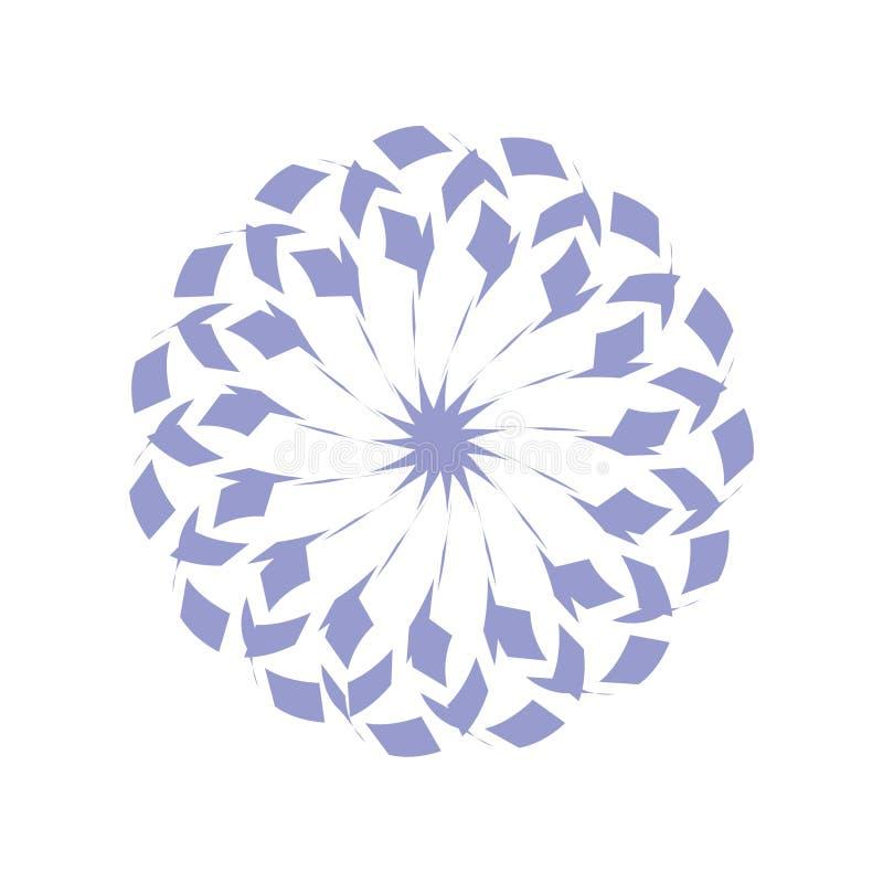 Ícone redondo do dente-de-leão ilustração stock