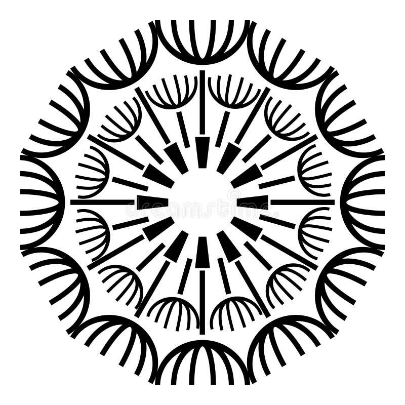 Ícone redondo do dente-de-leão, estilo simples ilustração royalty free