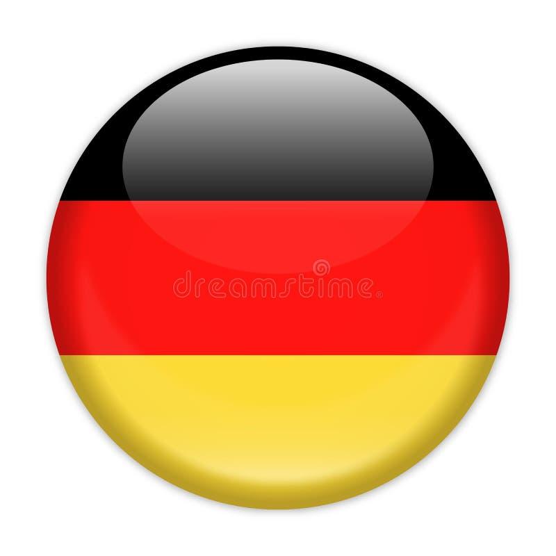 Ícone redondo do vetor da bandeira de Alemanha ilustração royalty free