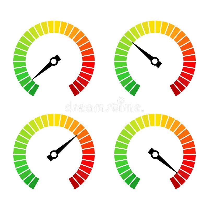 Ícone redondo do vetor da barra do progresso da velocidade ilustração do vetor