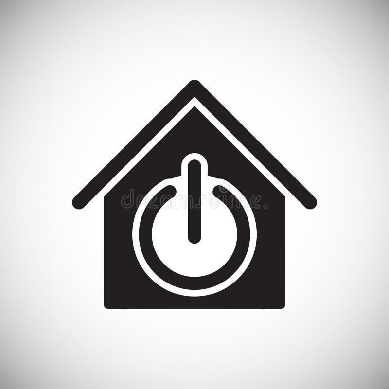 Ícone relacionado da casa esperta no fundo para o gráfico e o design web Sinal simples do vetor Símbolo do conceito do Internet p ilustração royalty free