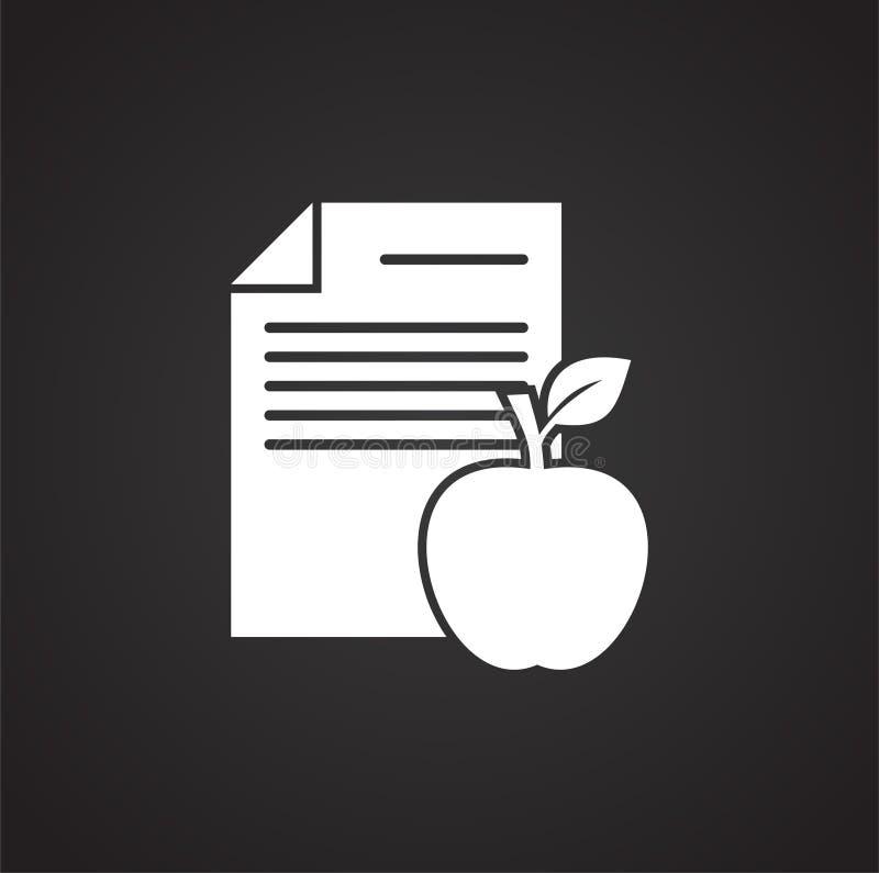Ícone relacionado da dieta no fundo para o gráfico e o design web Ilustra??o simples S?mbolo do conceito do Internet para o Web s ilustração royalty free