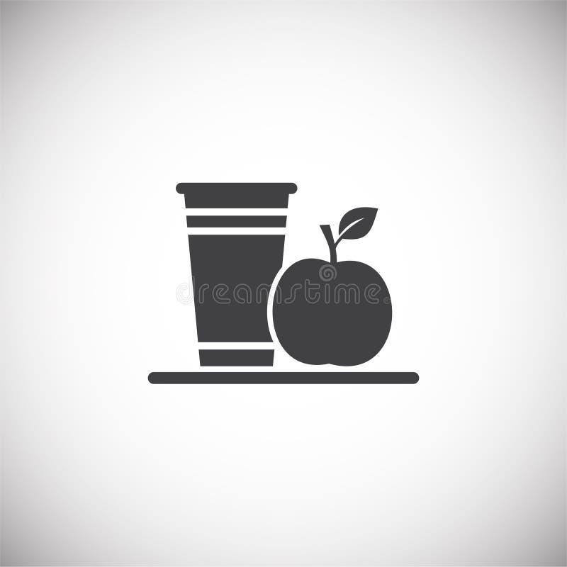 Ícone relacionado da dieta no fundo para o gráfico e o design web Ilustra??o simples S?mbolo do conceito do Internet para o Web s ilustração stock