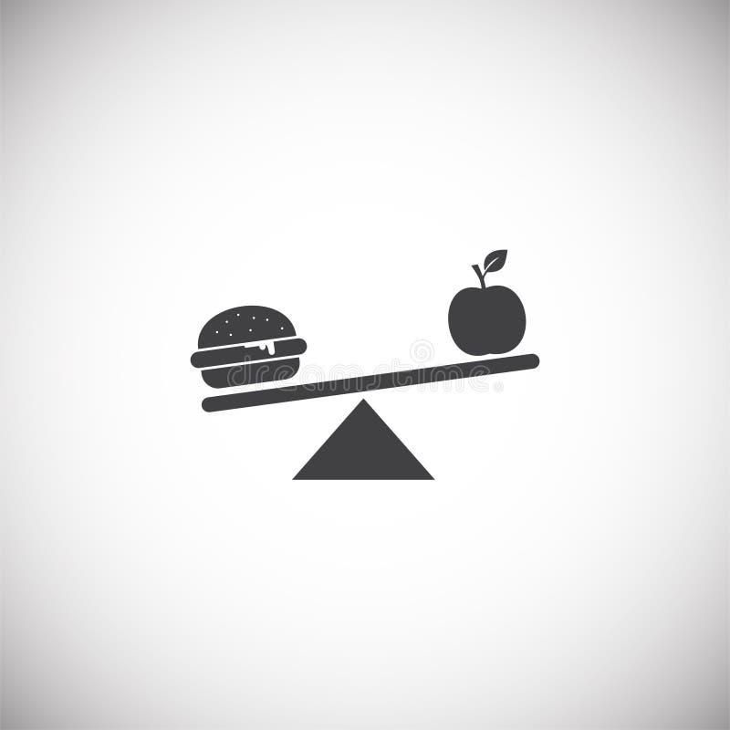 Ícone relacionado da dieta no fundo para o gráfico e o design web Ilustra??o simples S?mbolo do conceito do Internet para o Web s ilustração do vetor