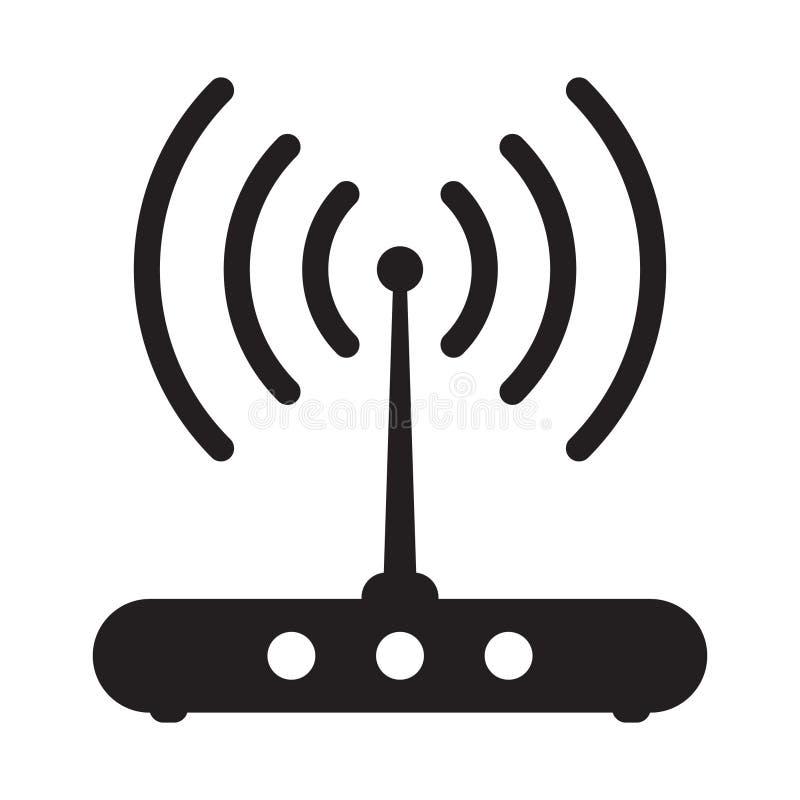 Ícone relacionado do sinal do router ilustração do vetor