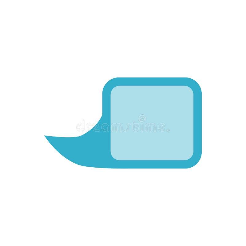 Ícone relacionado do vetor da bolha do discurso ilustração do vetor