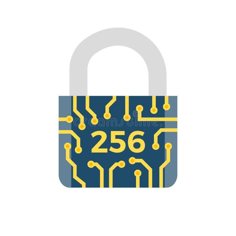 Ícone relacionado do vetor de SHA 256 ilustração do vetor
