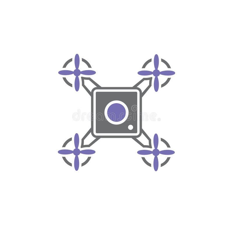 Ícone relacionado do zangão no fundo para o gráfico e o design web Ilustra??o simples S?mbolo do conceito do Internet para o Web  ilustração do vetor
