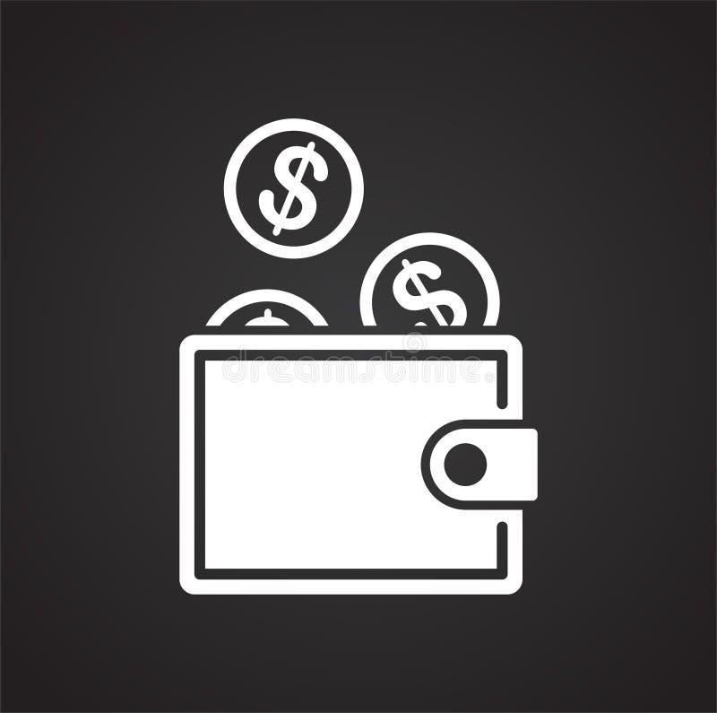 Ícone relativo à segurança do dinheiro no fundo para o gráfico e o design web Ilustra??o simples S?mbolo do conceito do Internet  ilustração do vetor