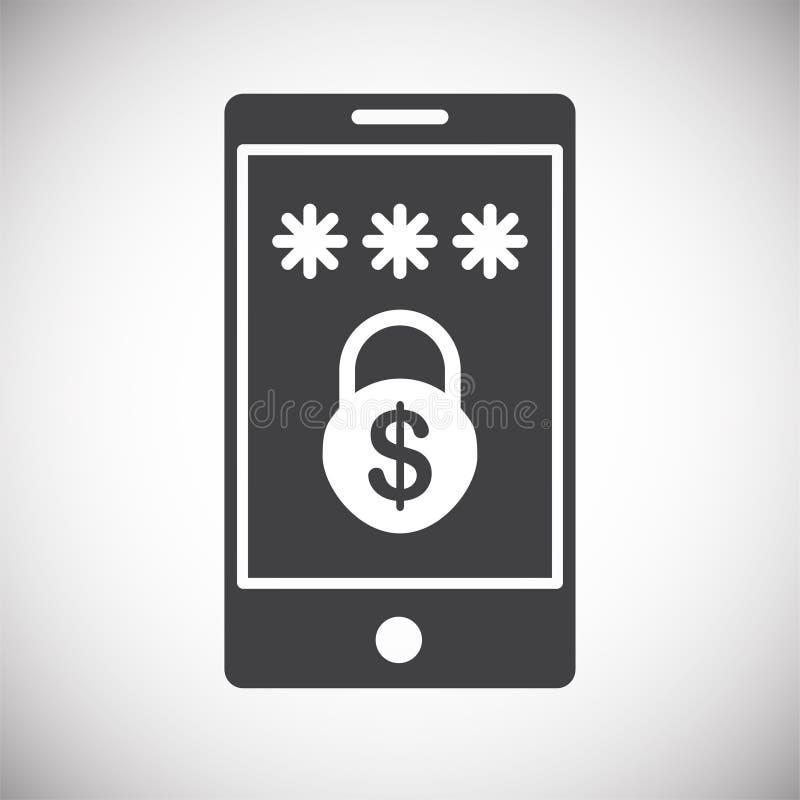 Ícone relativo à segurança do dinheiro no fundo para o gráfico e o design web Ilustra??o simples S?mbolo do conceito do Internet  ilustração stock