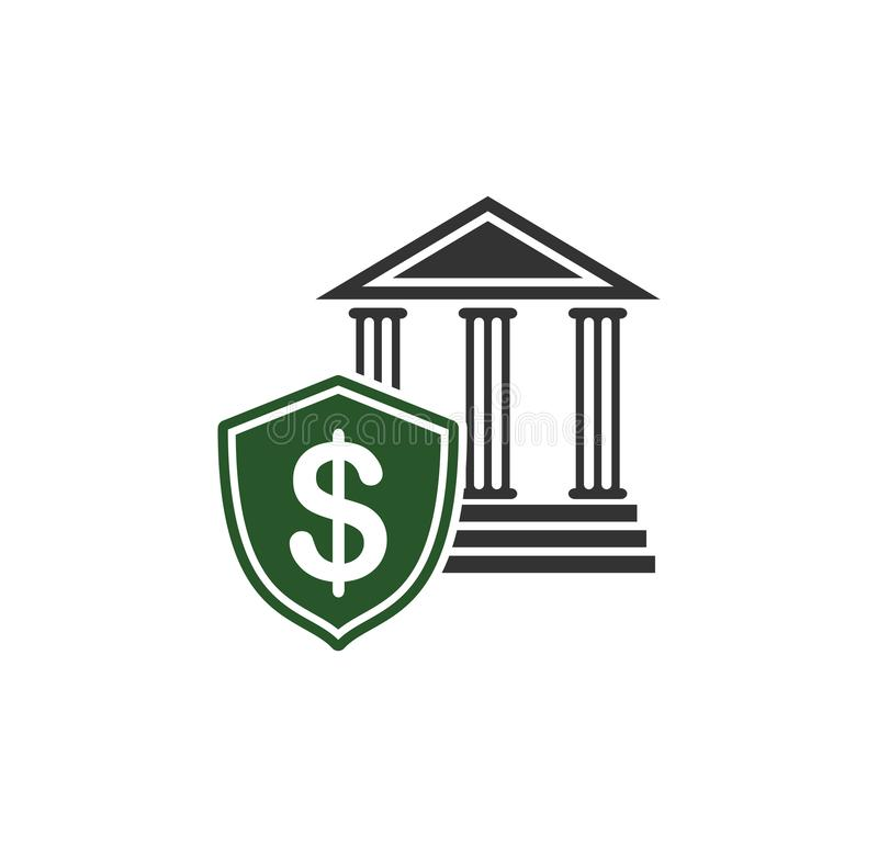 Ícone relativo à segurança do dinheiro no fundo para o gráfico e o design web Ilustra??o simples S?mbolo do conceito do Internet  ilustração royalty free