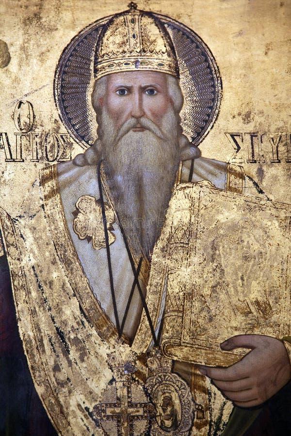 Ícone religioso - monastério do St Barnabas ilustração do vetor