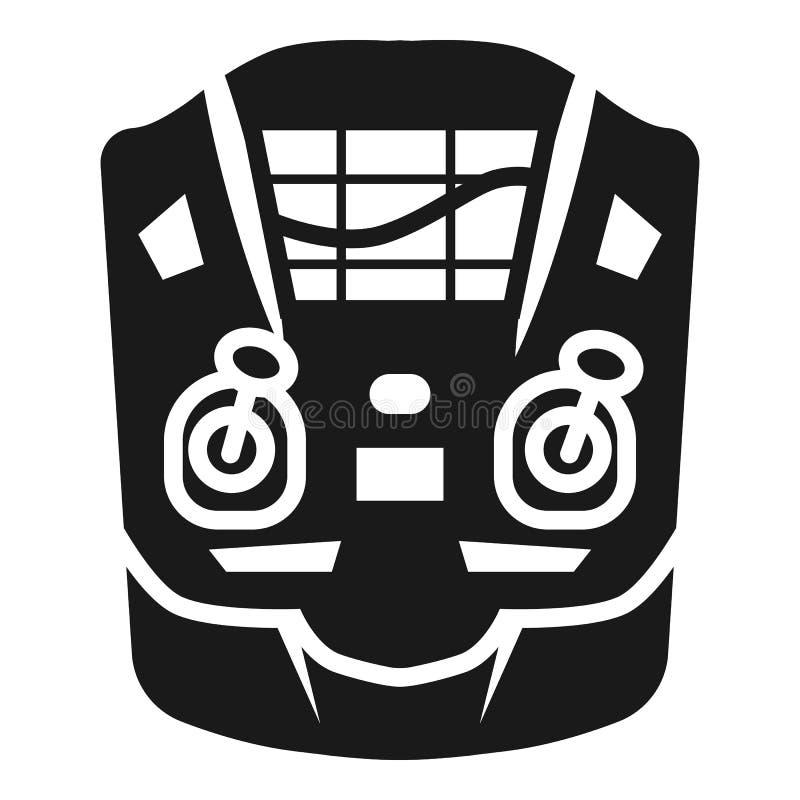 Ícone remoto do radar do zangão, estilo simples ilustração do vetor