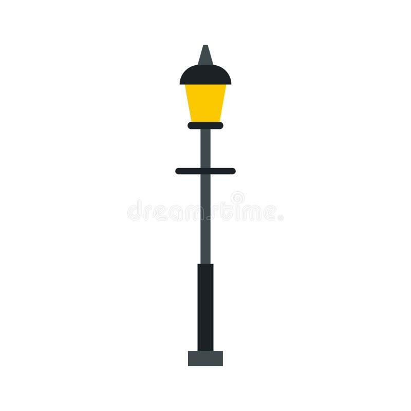 Ícone retro da lanterna da rua, estilo liso ilustração royalty free