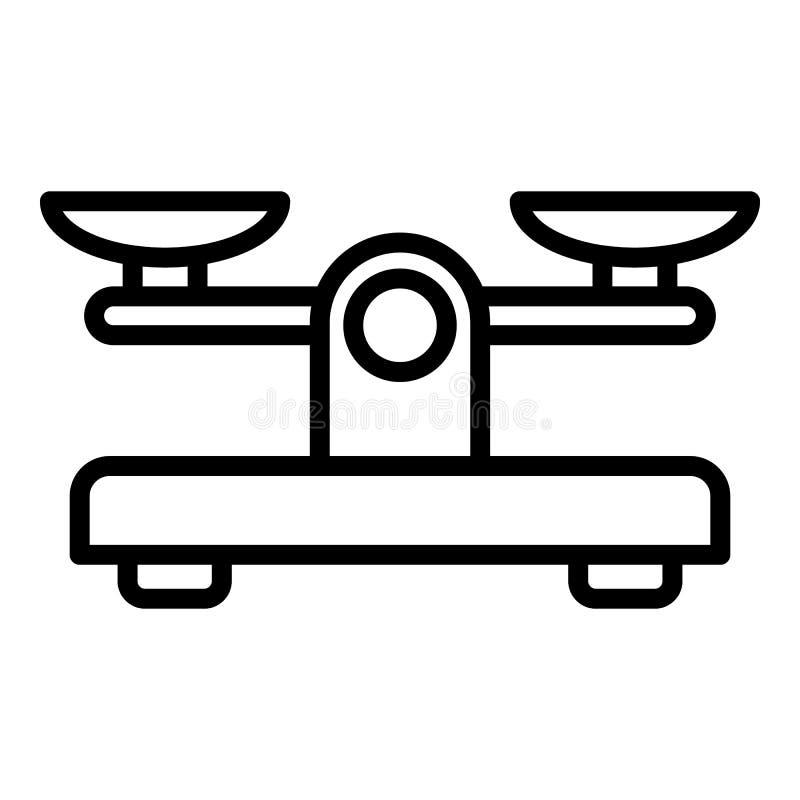 Ícone retro das escalas, estilo do esboço ilustração royalty free