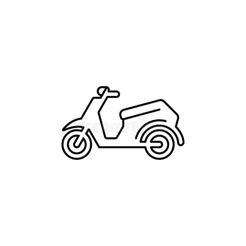 Ícone retro do esboço da motocicleta ilustração royalty free