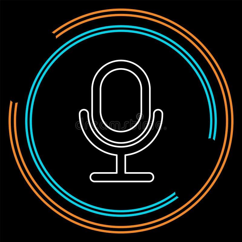 Ícone retro do microfone - música sadia ilustração royalty free