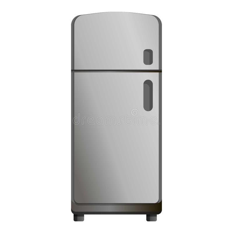 Ícone retro do refrigerador, estilo dos desenhos animados ilustração stock