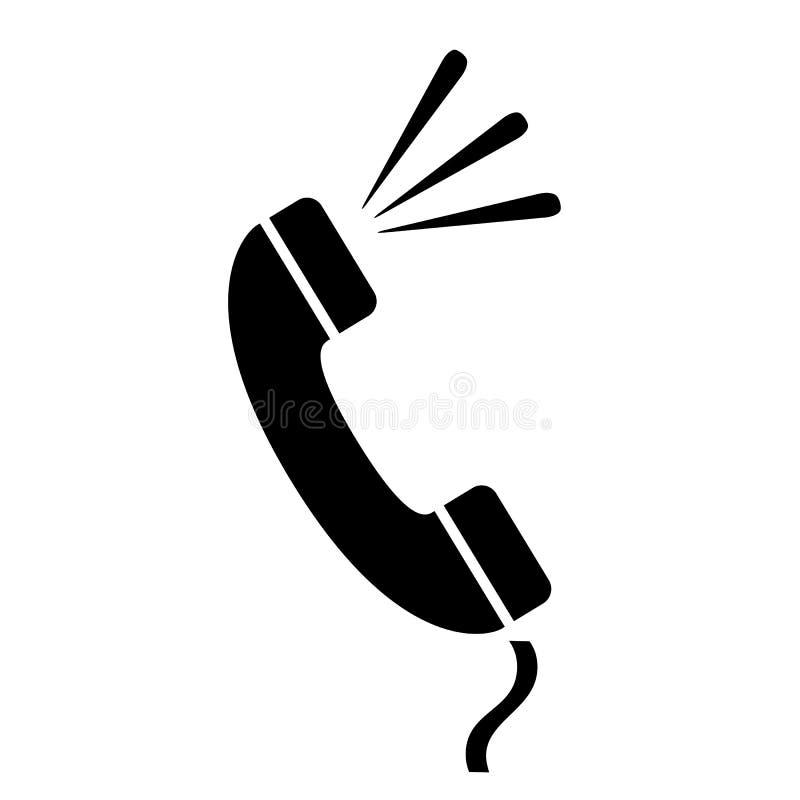 Ícone retro do vetor do monofone de telefone ilustração do vetor