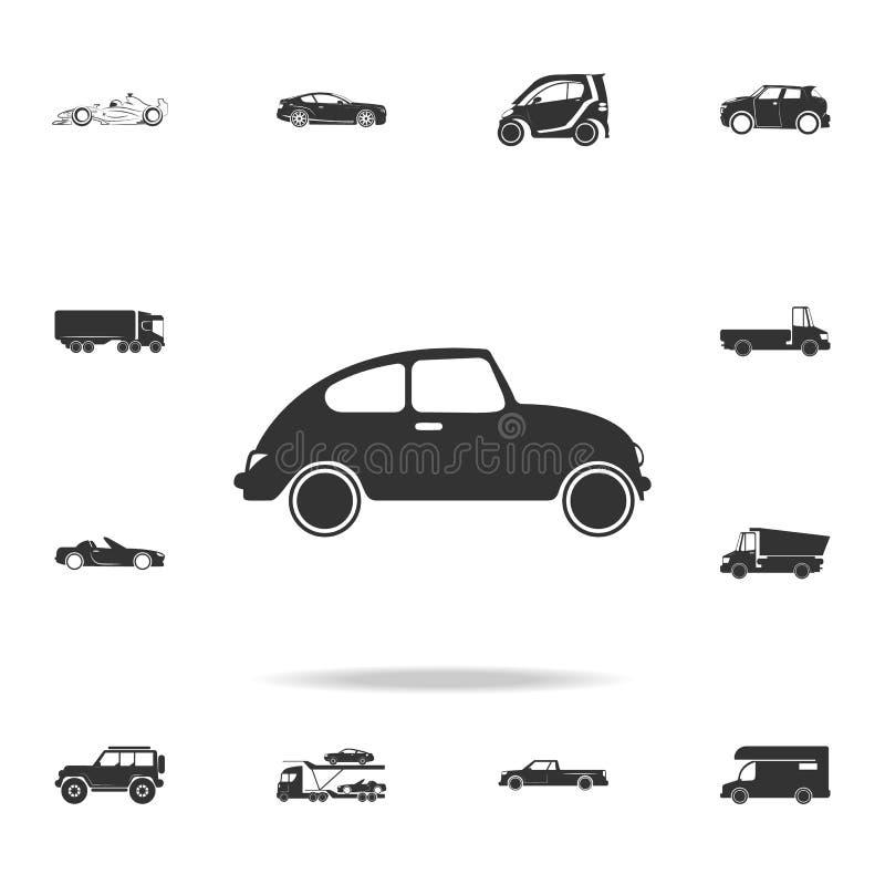 ícone retro pequeno do carro Grupo detalhado de ícones do transporte Projeto gráfico da qualidade superior Um dos ícones da coleç ilustração royalty free