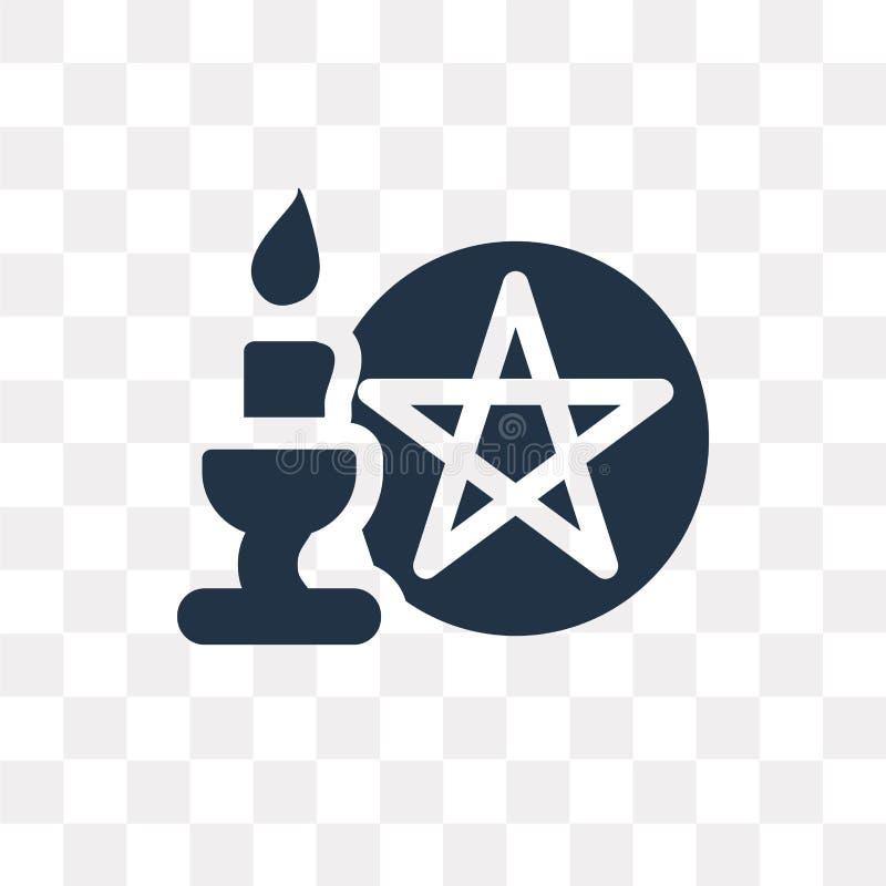 Ícone ritual do vetor isolado no fundo transparente, ritual t ilustração royalty free
