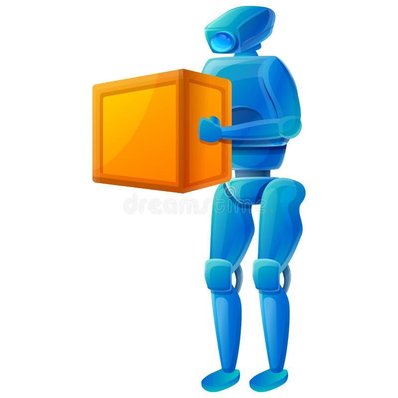 Ícone robô com uma caixa ilustração do vetor