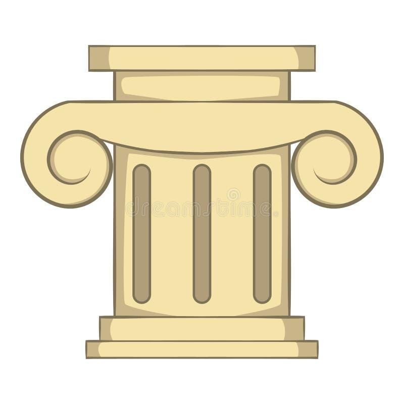 Ícone romano da coluna, estilo dos desenhos animados ilustração stock