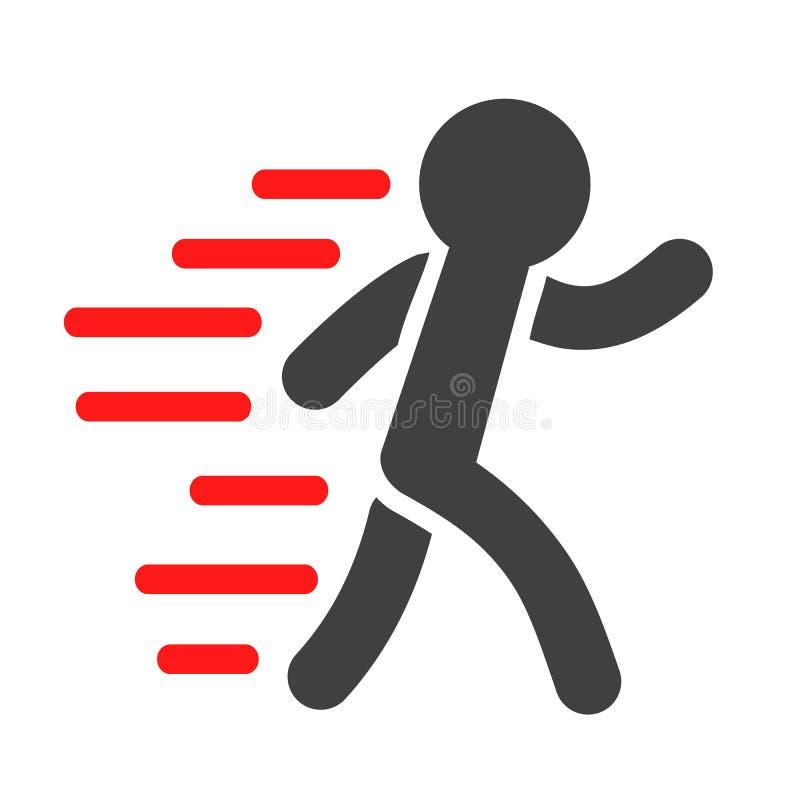 Ícone running do homem - ilustração do vetor