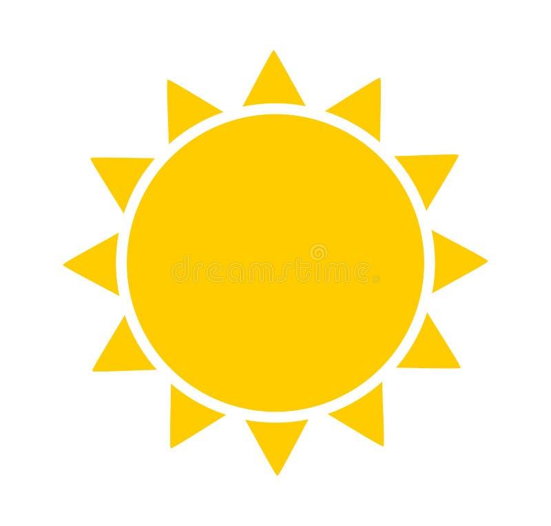 Ícone, símbolo ou logotipo de Sun ilustração royalty free