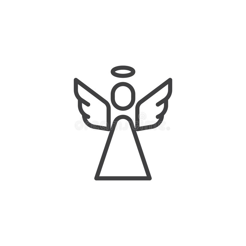 Ícone santamente do esboço do anjo ilustração royalty free