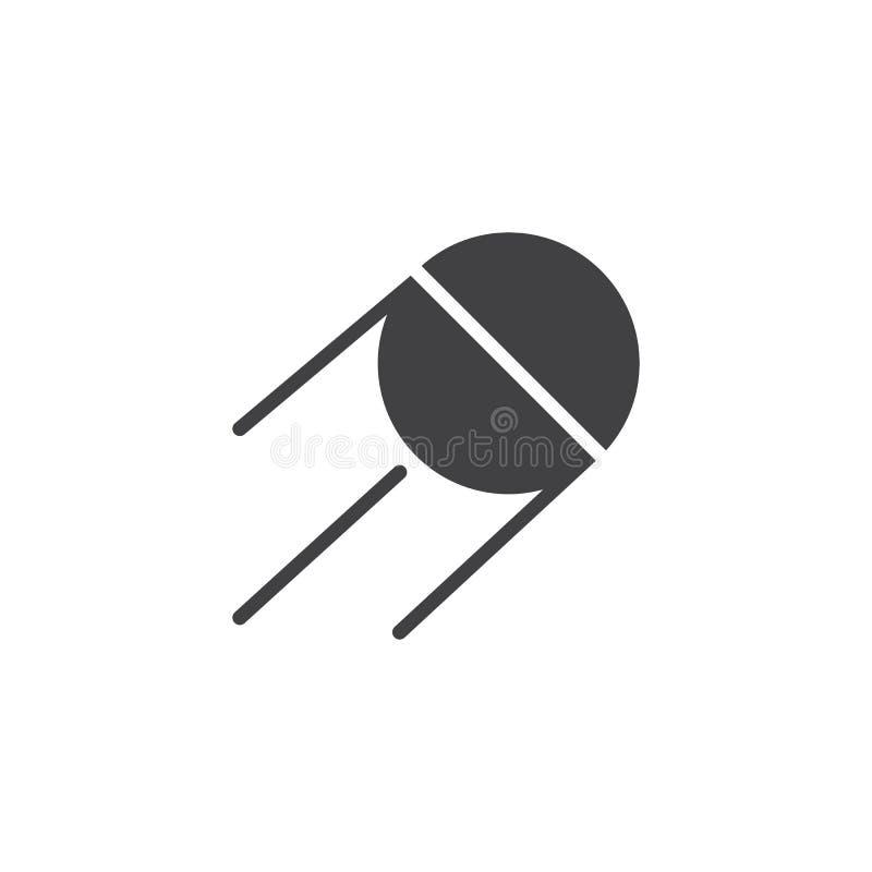 Ícone satélite do vetor do espaço ilustração do vetor