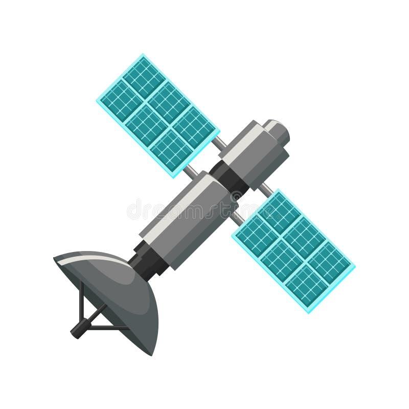 Ícone satélite isolado ilustração royalty free