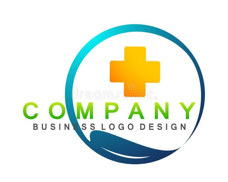 Ícone saudável do projeto do logotipo dos cuidados paliativos dos povos médicos da clínica do cuidado da família da saúde no fund ilustração stock