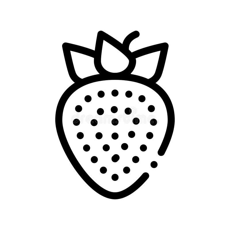 Ícone saudável do sinal do vetor da morango do fruto do alimento ilustração royalty free