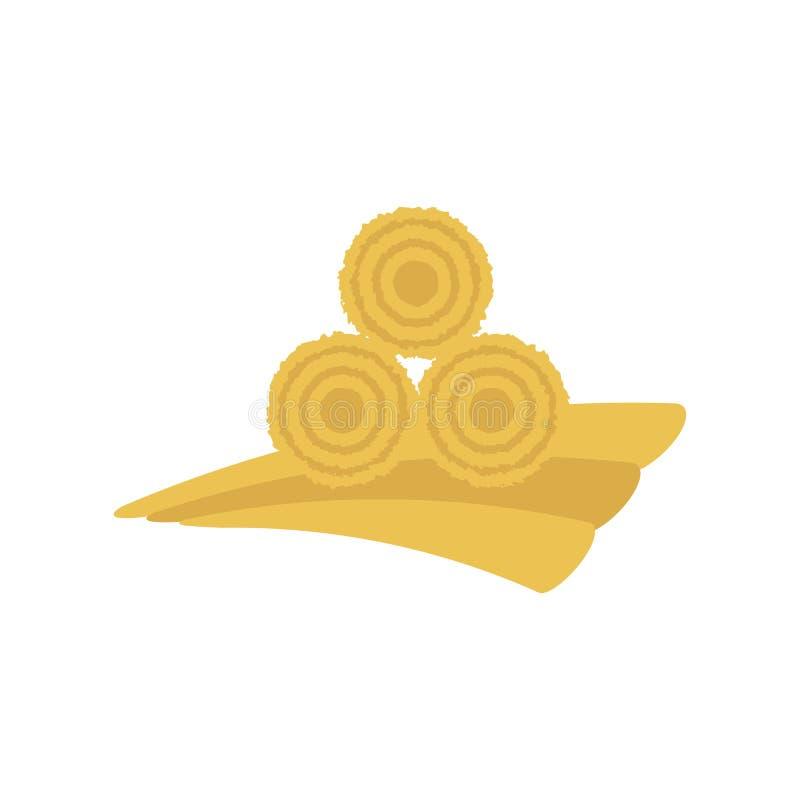 Ícone secado do monte de feno ilustração do vetor