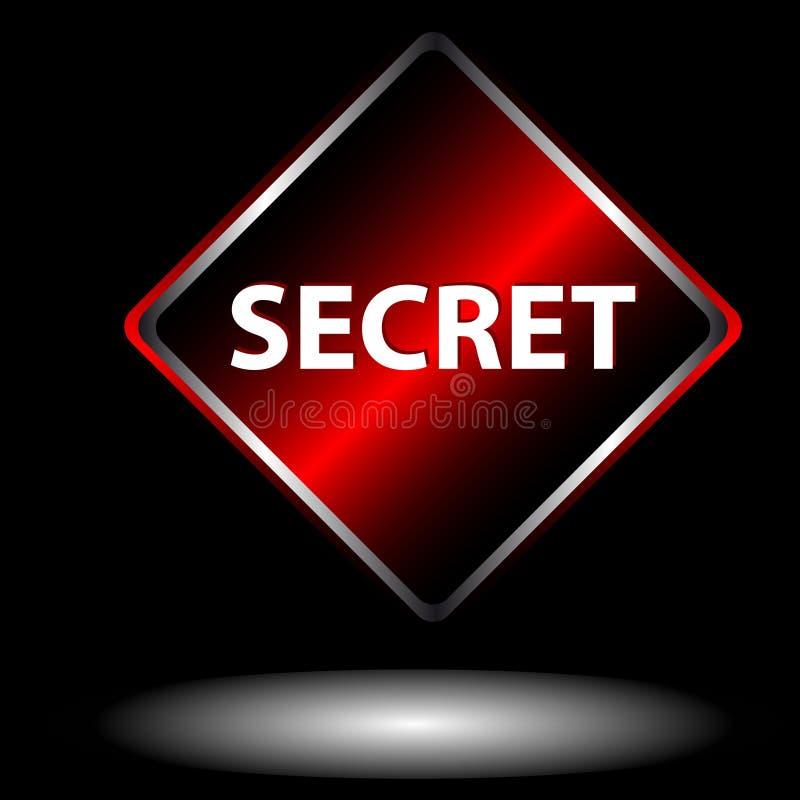Ícone secreto ilustração stock