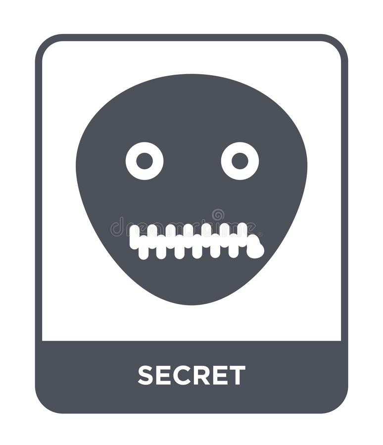 ícone secreto no estilo na moda do projeto ícone secreto isolado no fundo branco símbolo liso simples e moderno do ícone secreto  ilustração do vetor