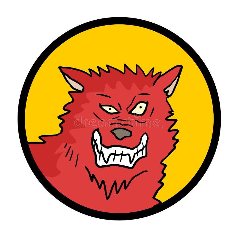 Ícone selvagem do lobo ilustração do vetor