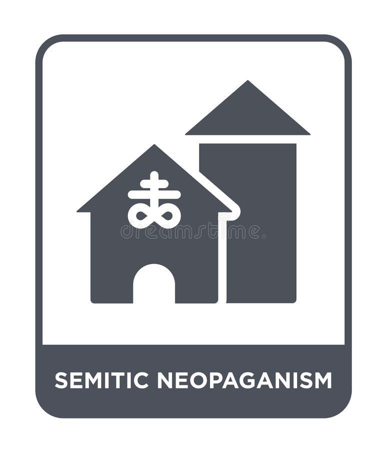 ícone semítico do neopaganism no estilo na moda do projeto ícone semítico do neopaganism isolado no fundo branco vetor semítico d ilustração stock