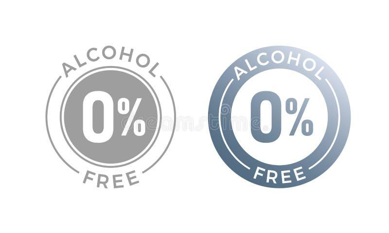 Ícone sem álcool do vetor para o símbolo sem álcool cosmético ou médico ilustração royalty free