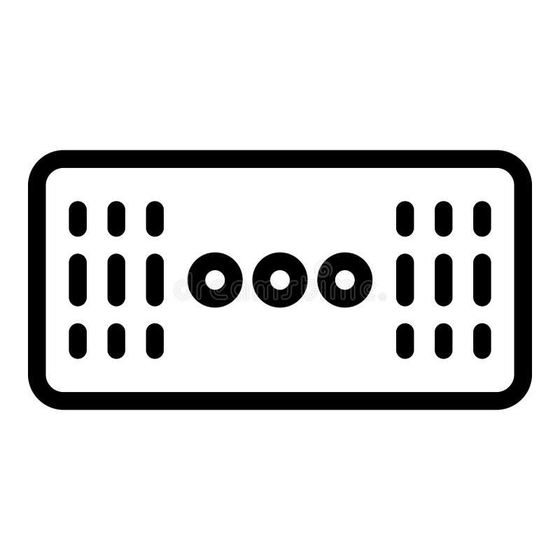 Ícone sem fio do alto-falante estéreo, estilo do esboço ilustração do vetor