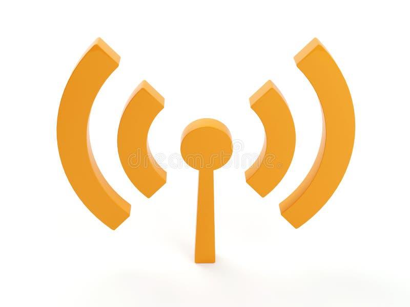 Ícone (sem fio) isolado dos wi fi ilustração stock