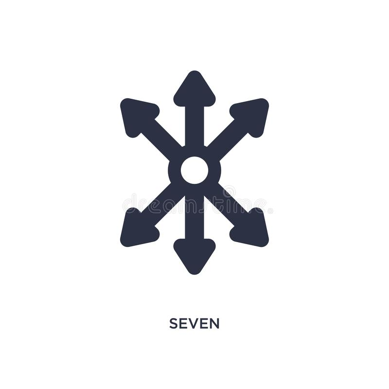 ícone sete no fundo branco Ilustração simples do elemento do conceito da orientação ilustração do vetor