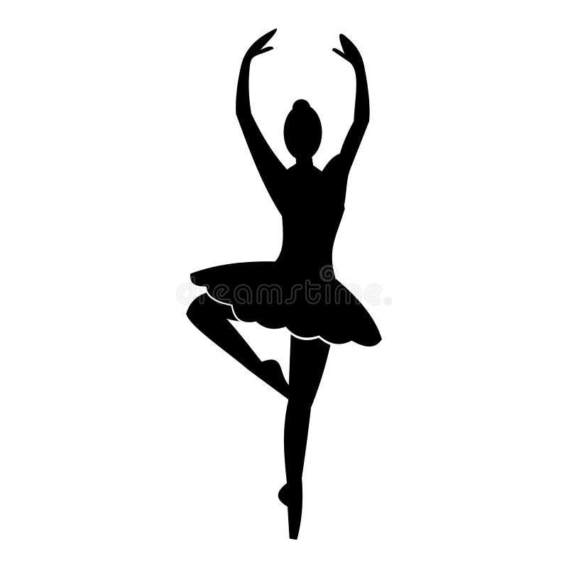 Ícone simples da bailarina ilustração do vetor